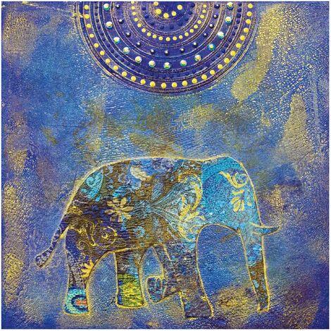 Papier peint intissé Premium - Elephant in Marrakech - Mural Carré