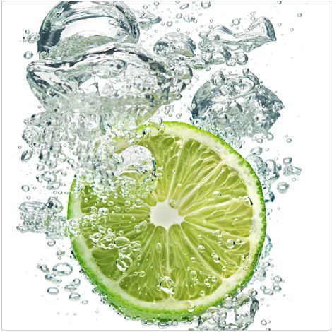 Papier peint intissé Premium - Lime Bubbles - Mural Carré