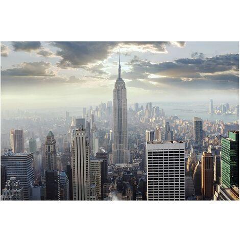 Foto Murales New York.Papier Peint Intisse Premium Sunrise In New York Mural Large
