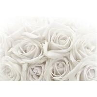Papier peint intissé Premium - White Roses - Mural Large