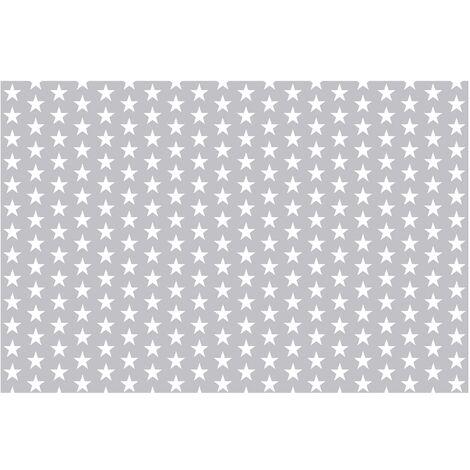Papier peint intissé Premium étoiles blanches sur fond gris ...