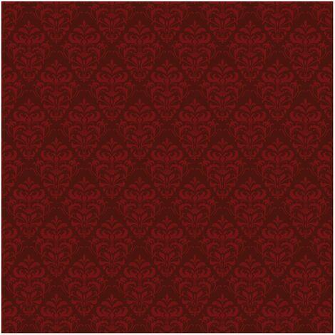 Papier peint intissé - Red French Baroque - Mural Carré
