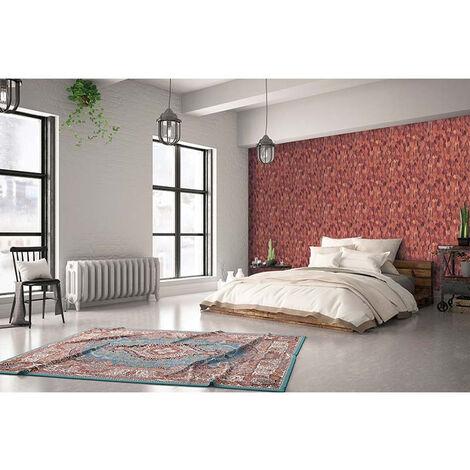 Papier Peint Intissé Rouge, Marron Floral - Motif, Moderne, Nature - Pour Chambre à Coucher, Salon ou Cuisine - Fabriqué en Allemagne - 10,05 x 0,53m - 31734