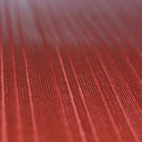 Papier Peint Intissé Rouge Rayure - Glööckler Imperial de Marburg - Pour Chambre à Coucher, Salon ou Cuisine - Fabriqué en Allemagne - 10,05 x 0,70m - 54851