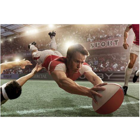 Papier peint intissé - Rugby Action - Mural Large
