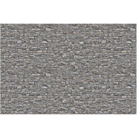 Papier peint intissé - Stone Wallpaper - Grey Natural Stone Wallpaper - Mural Large