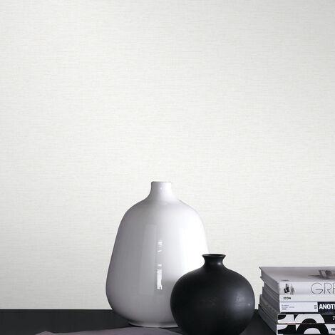 "main image of ""Papier peint intissé Uni Kori 1005 x 52cm blanc"""