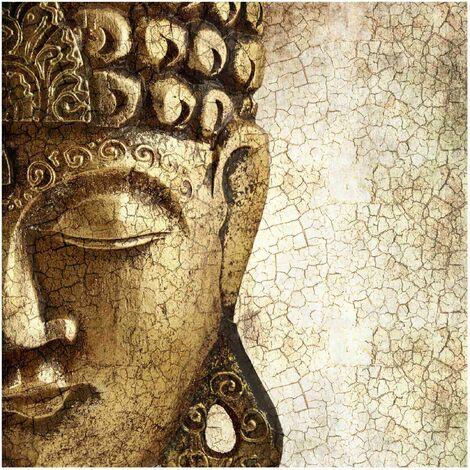 Papier peint intissé - Vintage Buddha - Mural Carré