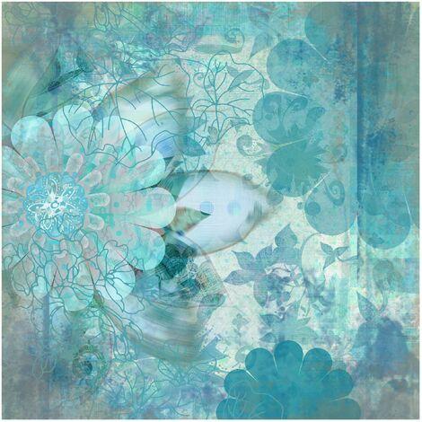 Papier peint intissé - Winter flowers - Mural Carré