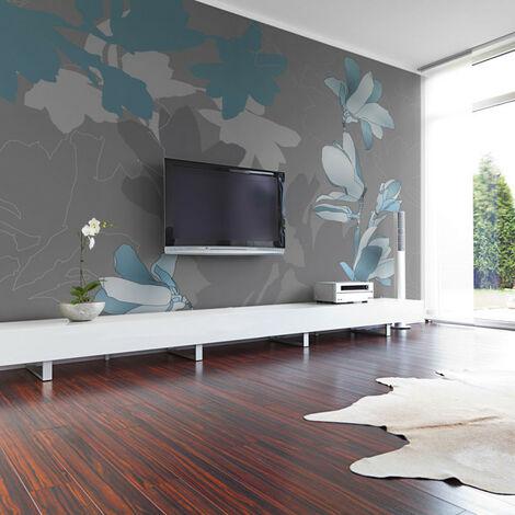 Papier peint - Magnolias bleus 350x270