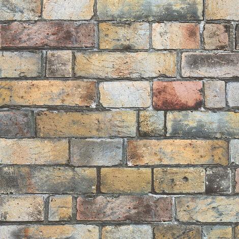 Papier peint mur pierre | Papier peint intissé & vinyle pour bureau & restaurant | Papier peint rustique302561 - 10,05 x 0,53 m