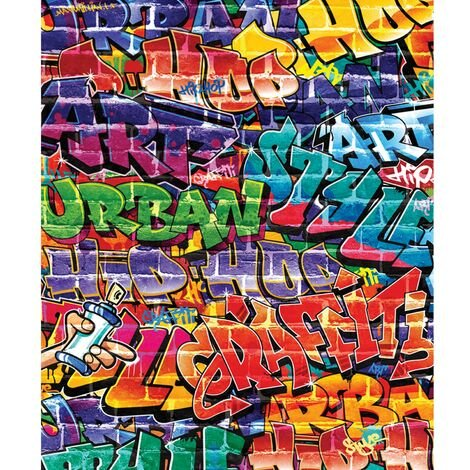 Papier peint mural Graffiti Walltastic 203X244 CM