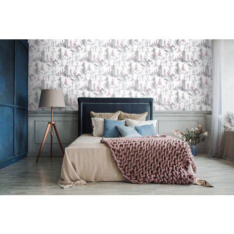 Papier peint Mystical Forest violet 1005 x 52cm