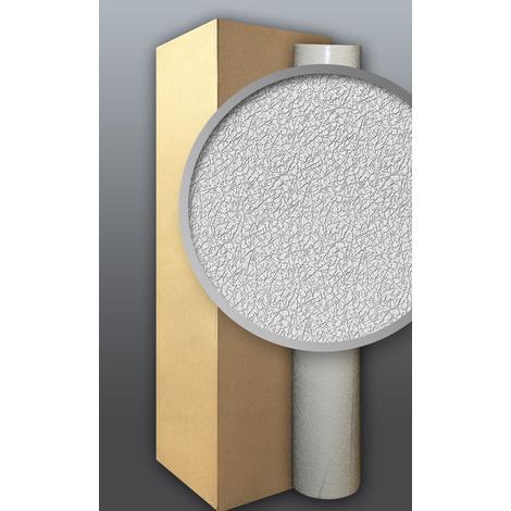 Papier peint non-tissé blanc à peindre EDEM 306-70 à relief aspect de tissu froissé 4 roul. 106 m2