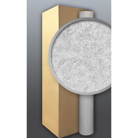 Papier peint non-tissé blanc à peindre EDEM 308-60 à relief aspect de crépi 4 roul. 106 m2