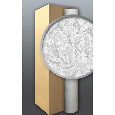 Papier peint non-tissé EDEM 80317BR60 blanc à peindre à relief aspect de crépi 4 roul. 106 m2