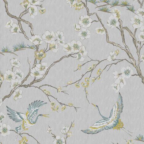 Papier Peint Oiseaux Japonais