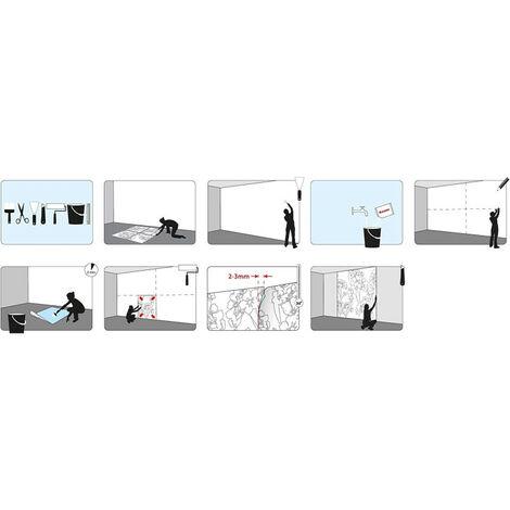Papier Peint panorama La Reine des Neiges 2 Disney Anna et Elsa style aquarelle368cm x 127cm