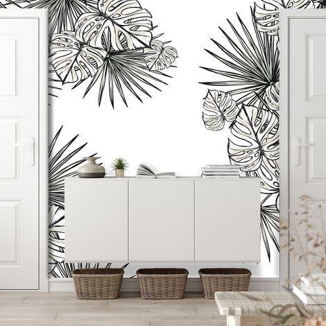Papier peint panoramique 5 lés Végétal Monstera - L240xH270cm