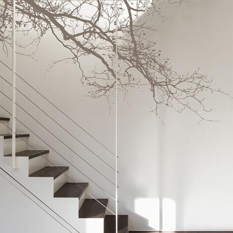 Papier peint panoramique Abstract branch 255x250 - Brun