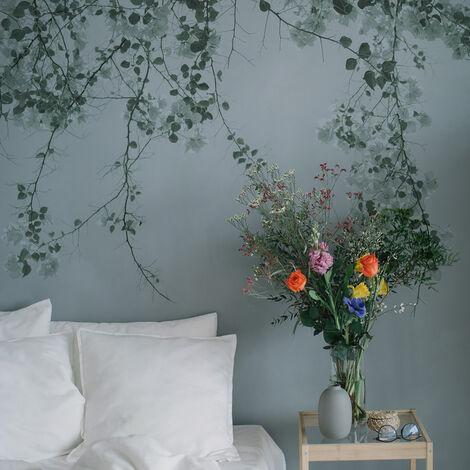 Papier peint panoramique Blurry green 170x250 - Vert