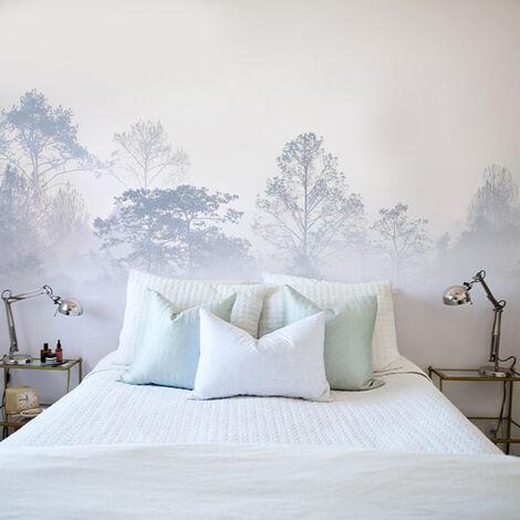 Papier peint panoramique Brumes matinales 08 250x425 - Violet