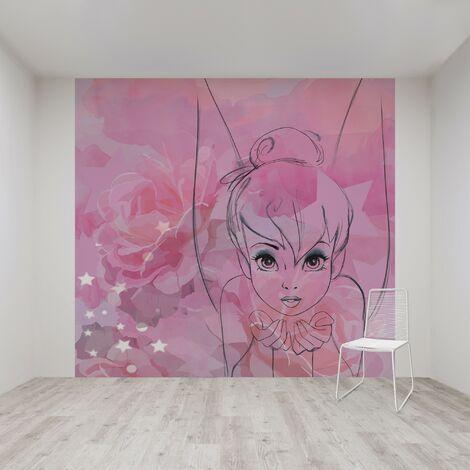 Papier peint panoramique Clochette 280 x 300cm Multicolore