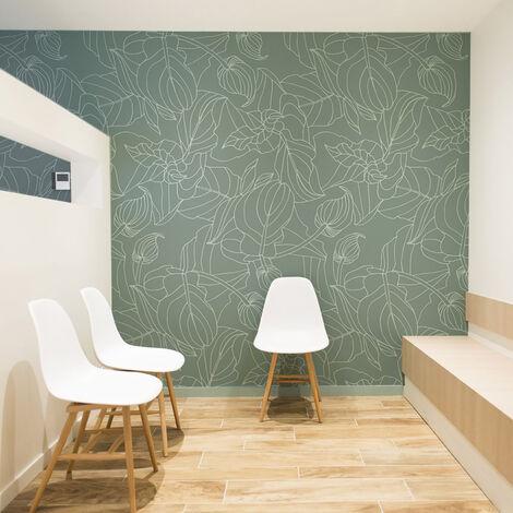 Papier peint panoramique Feuillages 255x250 - Vert