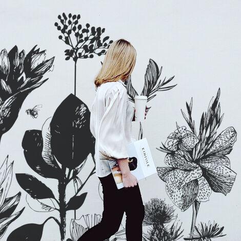 Papier peint panoramique Fleurs des Champs 255x250 - Couleurs