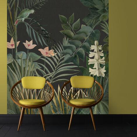 Papier Peint Panoramique Intissé Buisson Jungle Vert 200 X 280 Cm