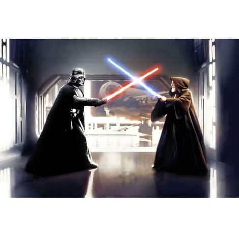 Papier Peint panoramique intissé Vader vs. Kenobi Star Wars 300X200 CM