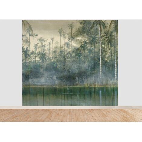 Papier peint panoramique Madison 300 x 270 cm - Vert