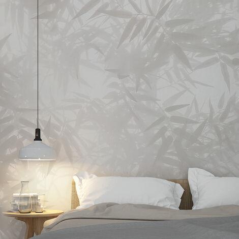 Papier peint panoramique Ombres Bambous 340x250 - Vert