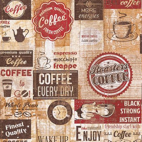 Papier peint papier 334801 Simply Decor - Papier peint motif Beige/Crème Marron Rouge - 10,05 x 0,53 m