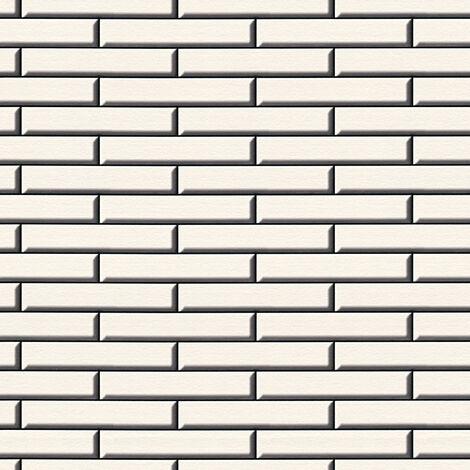 Papier peint papier 342781 Il Decoro - Papier peint brique & pierre Beige/Crème Noir/Anthracite - 10,05 x 0,53 m
