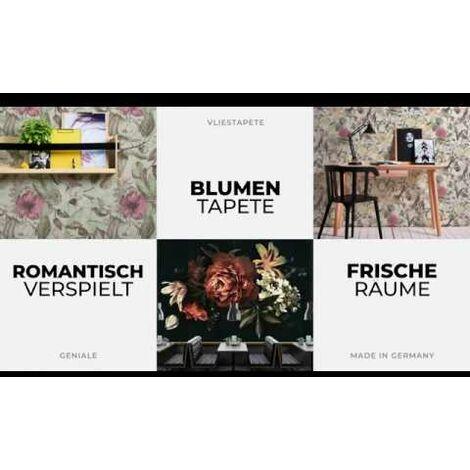 Papier peint papier 366936 Flavour - Papier peint palmier Violet/Mauve Blanc - 10,05 x 0,53 m