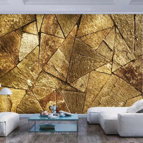 Papier peint - Pavement Tiles (Golden) 400x280