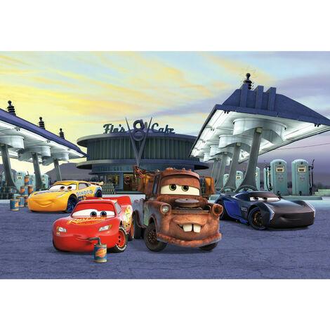 Papier Peint Photo Cars 3 Disney Flash Mc Queen et ses amis à la station service 368cm x 254cm