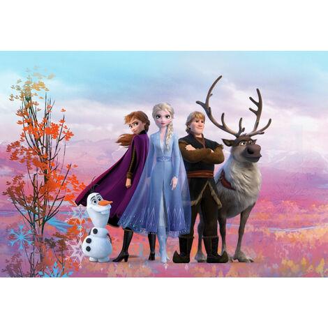 Papier Peint Photo La Reine des Neiges 2 Disney Anna Elsa Olaf Sven Kristoff tous ensemble 368cm x 254cm