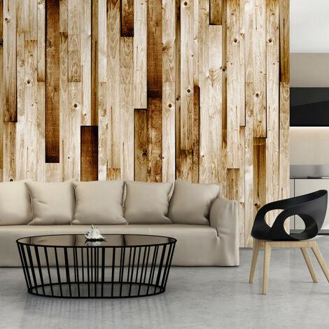 Papier peint - Planches en bois 100x70