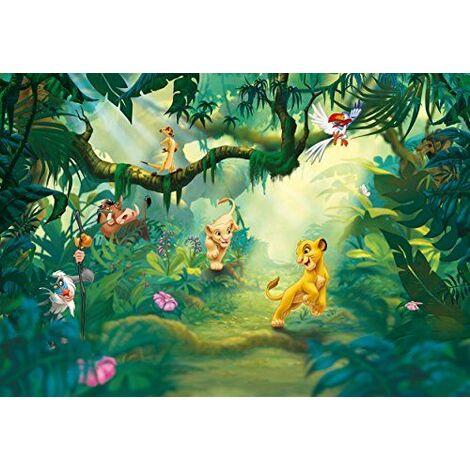 """main image of """"Papier Peint Pour Chambre D\'Enfant Motif Disney Le Roi Lion Jungle 368 X 254 Cm"""""""