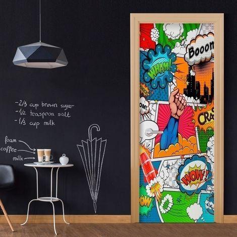 Papier-peint pour porte - Comic World