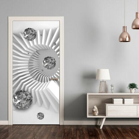 Papier-peint pour porte - Photo wallpaper - Black and white abstraction I