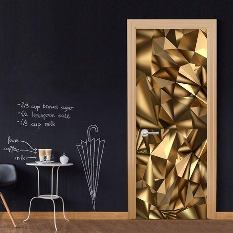 Papier-peint pour porte - Photo wallpaper - Golden Geometry I