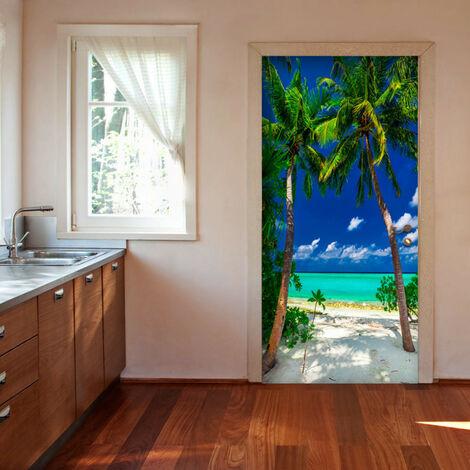 Papier-peint pour porte - Photo wallpaper - Island, beach I