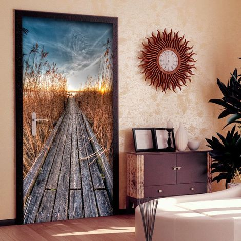 Papier-peint pour porte - Photo wallpaper - Pier on the lake I