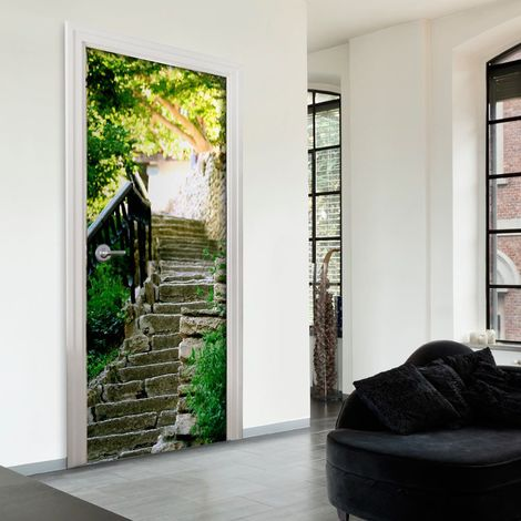 Papier-peint pour porte - Stony Stairs