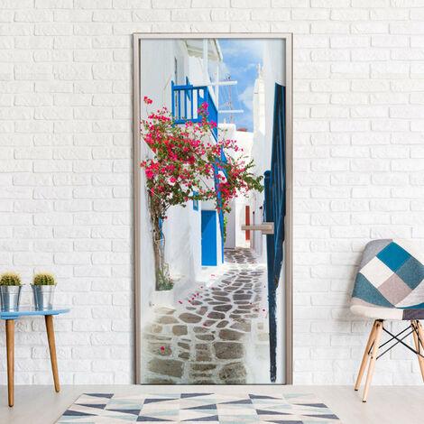Papier-peint pour porte - Walk through Santorini