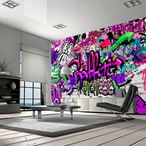Papier peint - Purple Graffiti 100x70