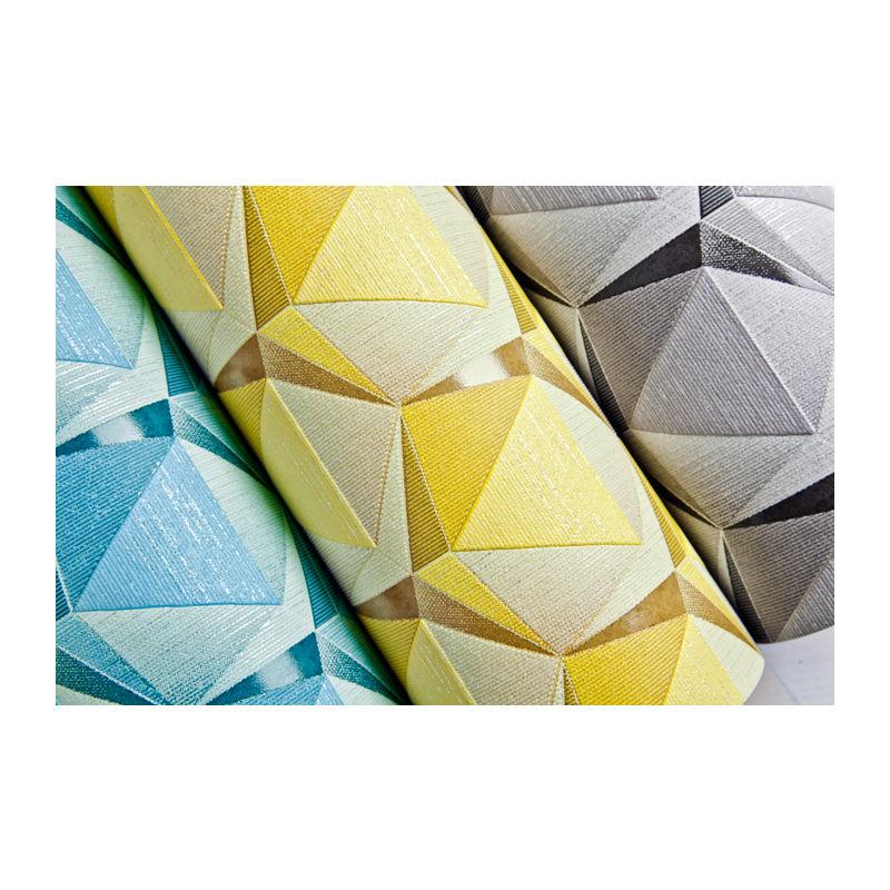 Résultat 1050-15 Retro Papier peint géométriquement ça brille beige vert-beige kaki-vert
